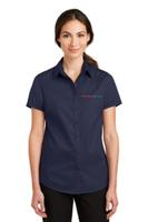 Ladies' Short Sleeve Button Up