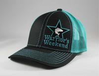 Structured Star Mesh Back Cap - Black/Teal
