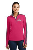 Ladies Sport-Wick® Textured Colorblock 1/4-Zip Pullover