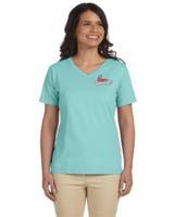 Logo Only - Ladies' V-Neck T-Shirt