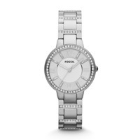 Ladies Fossil Virginia Stainless Steel 3 Hand Watch