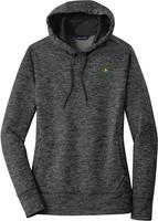 Ladies PosiCharge Electric Heather Fleece Hooded Pullover $50.50