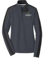 Ladies Sport-Wick® Textured Colorblock 1/4-Zip Pullover $41.50