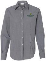 Van Heusen Button Up Long Sleeve Women's Gingham Check Shirt $43.50