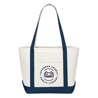 """""""I Love My Library"""" Canvas Tote Bag"""